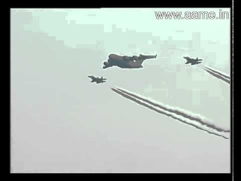 Boeing C-17 Transport Aircraft Being Escorted By 2 IAF Sukhoi Su-30MKI Fighters
