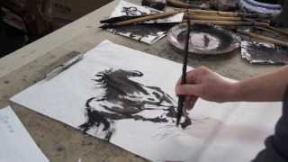 Happy 2014 The Year Of The Horse! Datong Xu Doing A