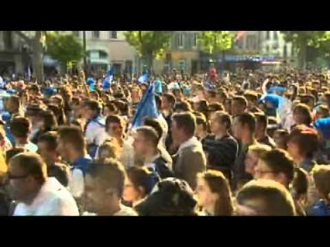 Les supporters à Castres quelques minutes avant le coup d'envoi