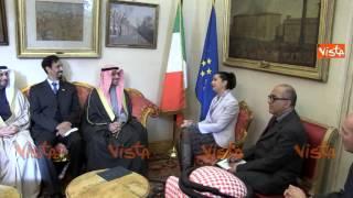 BOLDRINI INCONTRA IL PRESIDENTE DELL'ASSEMBLEA NAZIONALE DEL KUWAIT MARZOUQ ALI GHANIM 27-11-14