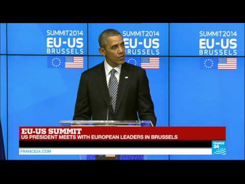 US President Barack Obama's speech in Brussels