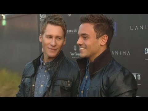 Tom Daley talks about his relationship with Dustin Lance Black at Battersea gig