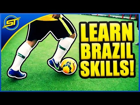 LEARN BEST BRAZIL FOOTBALL SKILLS | how to play like ...