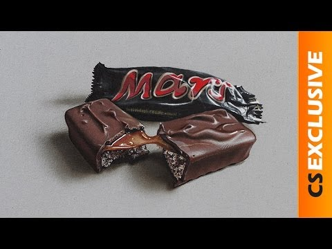Mars chocolate - Speed drawing   CreativeStation Exclusive