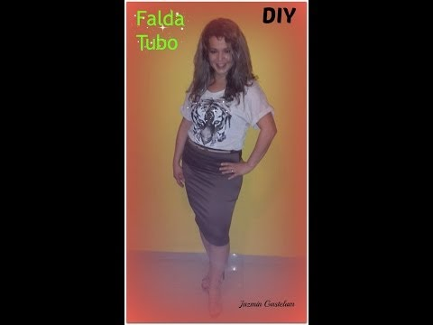DIY How To Make A Skirt Tube - Hacer Una Falda Tubo A La Cintura