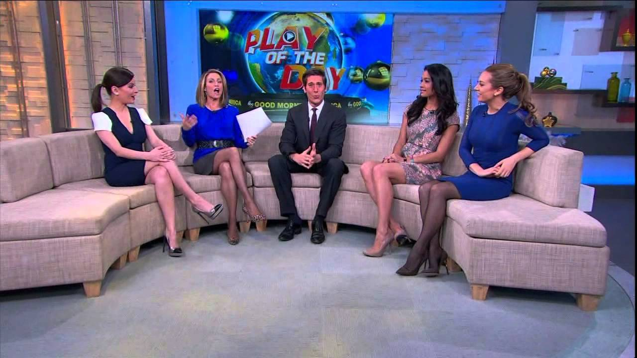 GMA Amy Robach Ginger Zee Legs