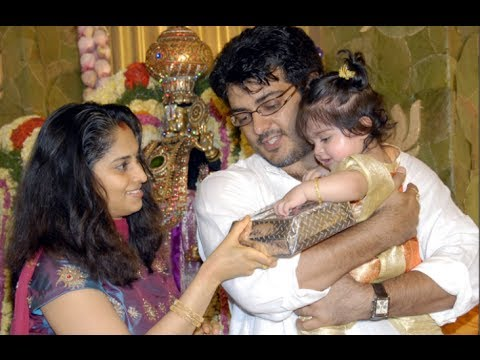 Actor Ajith Shalni Daughter Anoushka Birthday Pics