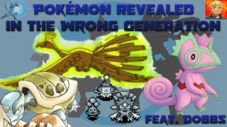 Pokémon Revealed in the Wrong Generation