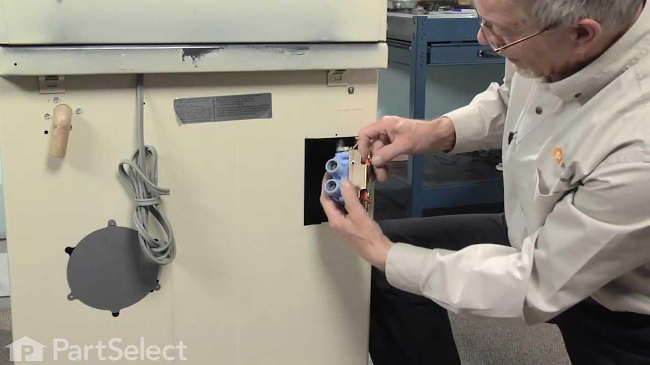 Washer repair replacing the water inlet valve whirlpool part 205613 youtube - Roper washing machine water inlet valve ...