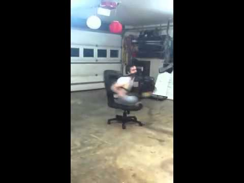 Dumb Ideas with Leaf Blower and Chair