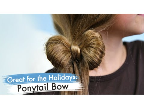 Ponytail Bow | Easy Hairstyles | Cute Girls Hairstyles