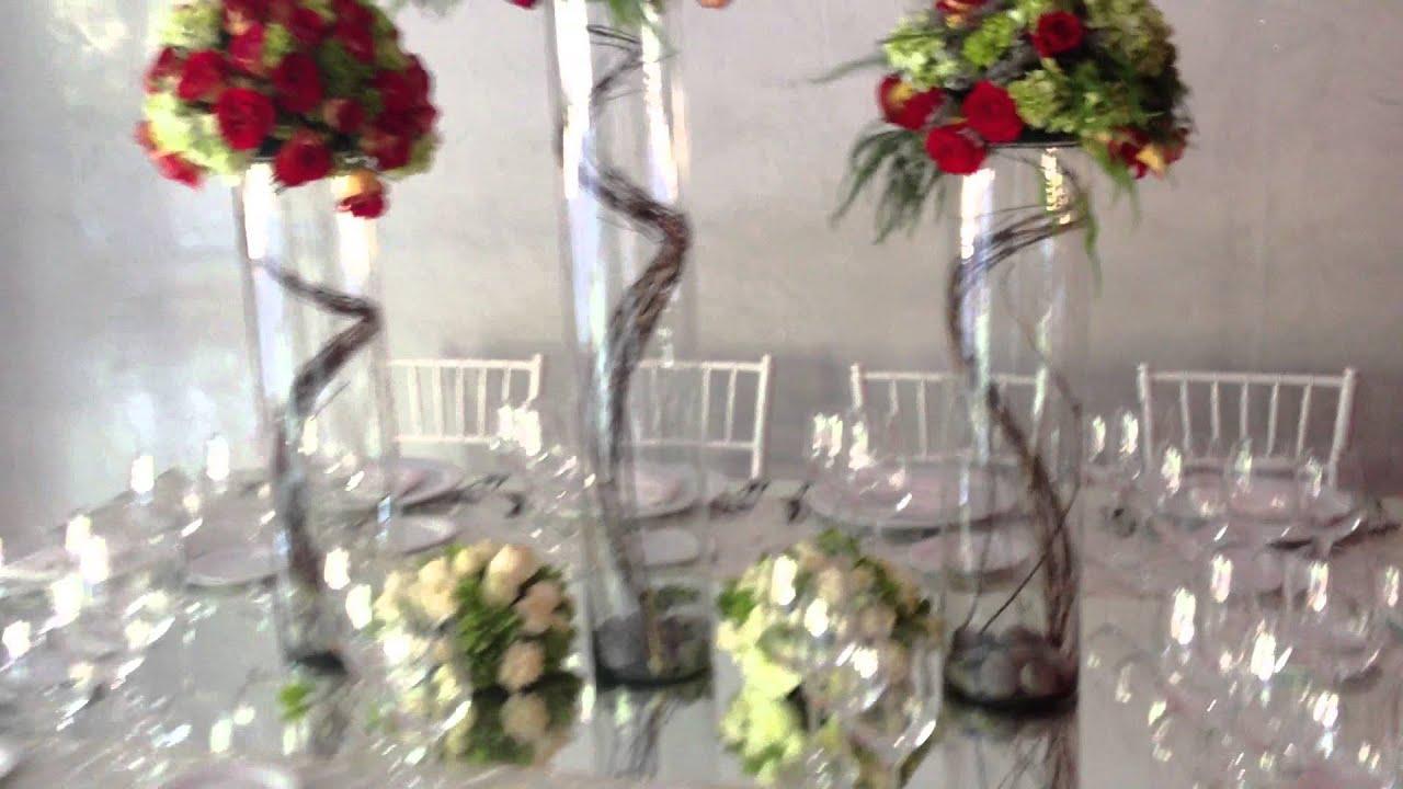 Hermoso centro de mesa para boda youtube - Adornos de mesa ...