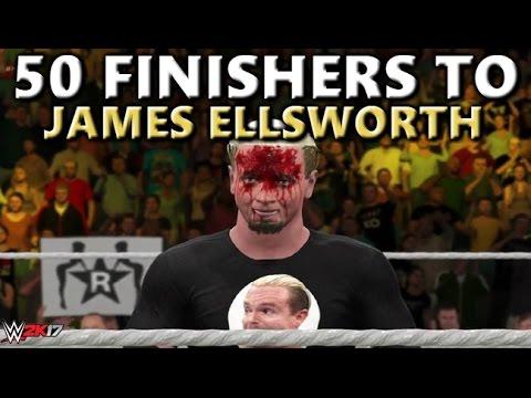 WWE 2K17 - 50 FINISHERS TO JAMES ELLSWORTH!