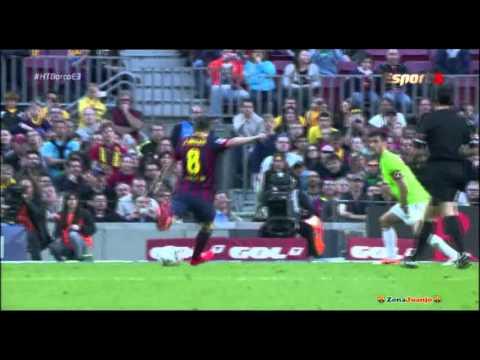 Andrés iniesta - FC Barcelona vs Osasuna [7-0][16-03-2014] Highlights