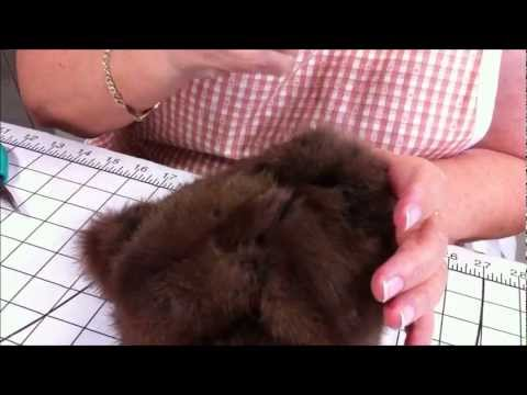 Part 10 Making a Jointed Fur Teddy Bear - The Ears