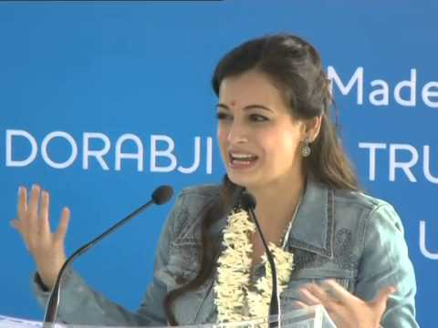 Dia Mirza speaks at Janawada Jaldhaara Foundation