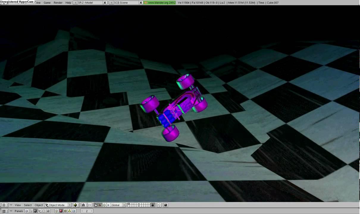 Blender game engine neon