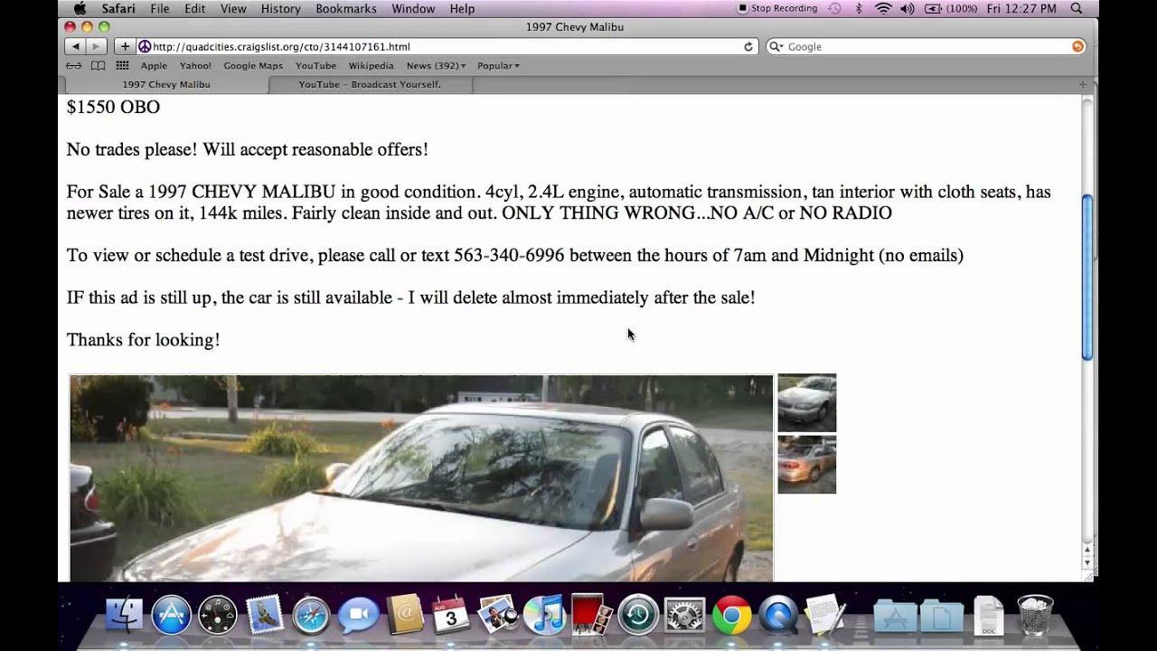 Craigslist Quad Cities Iowa And Illinois Used Cars