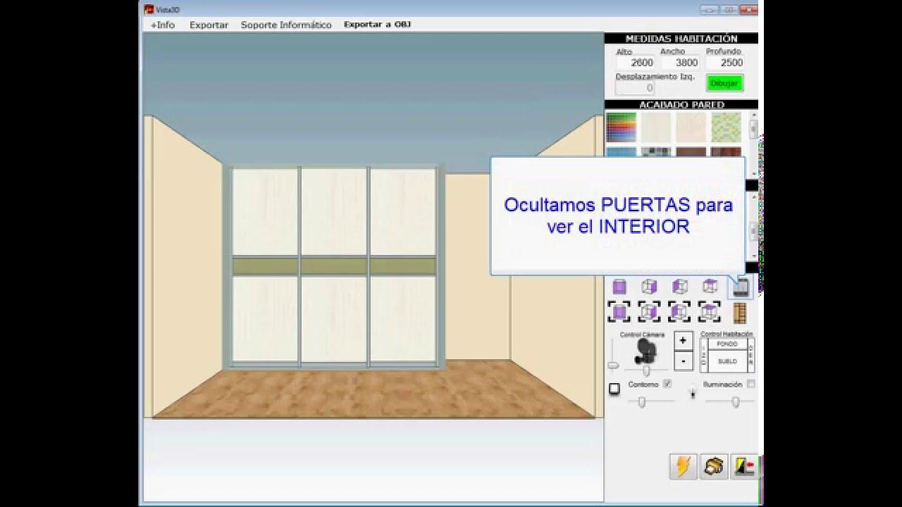 Programa software dise o armarios empotrados closets - Programa diseno vivienda ...