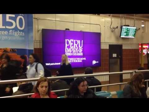 2014.05 Peru Tourism Digital Billboard @ Toronto Union Station