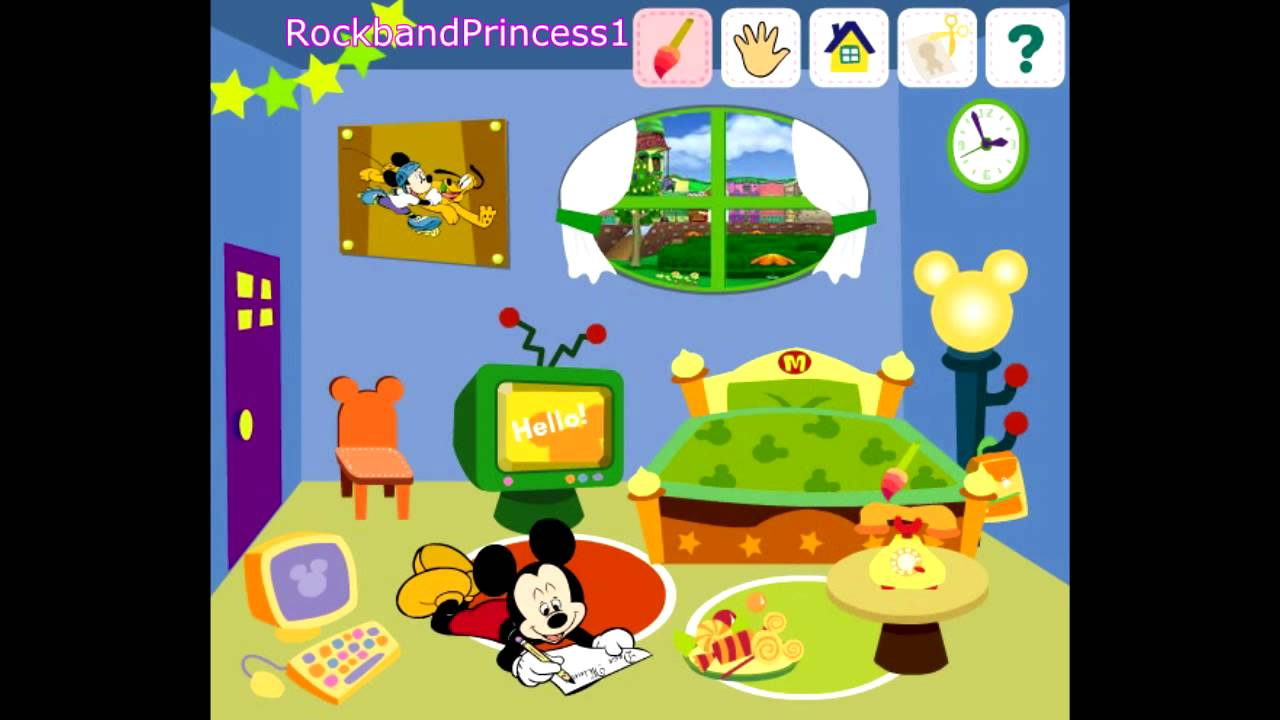 Mickey mouse clubhouse game decorate house game mickey mouse online games youtube - Decorate a house online ...