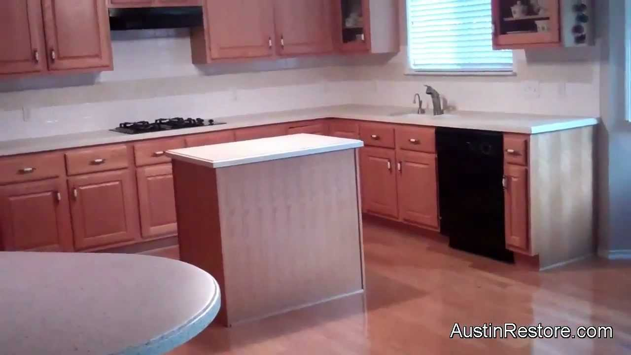 Resurfacing Corian Kitchen Countertops - YouTube