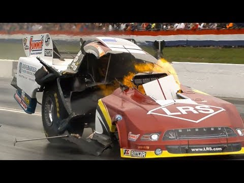 Tim Wilkerson Engine Explodes @ 2014 NHRA Atlanta