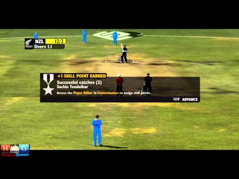 Ashes Cricket™ 2009 : India v/s New Zealand - 25 over ODI match Tournament (Episode #5)