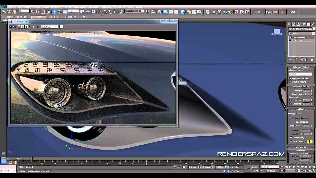 Tutorial  Vray Car Headlights  Led U0026 39 S