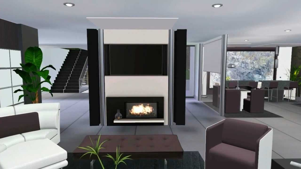 Sims 3 Celebrity Luxury House VR .2 (Modern Design) - YouTube