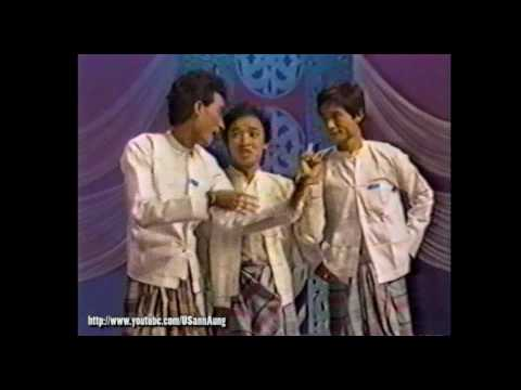 "#005 Zar Ga Nar, Thi Dar Win, and group ""Moe Nut Thu Zar A Nyein"" on Myanmar TV"