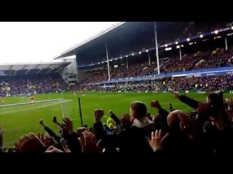 Everton v Arsenal - Everton fans in the Gwladys street
