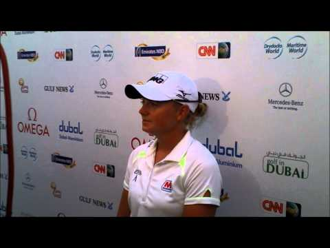 Stacy Lewis after her third round 70 at the Omega Dubai Ladies Masters