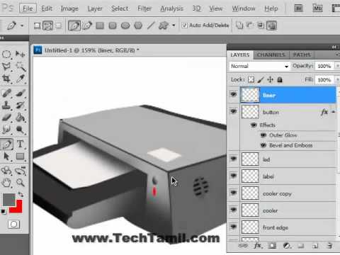 Photoshop video tutorial on creating icons - Photoshop video tutorial in tamil - Part -2