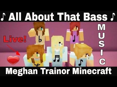 ♪ All About That Bass ♪ - minecraft Music Video Meghan Trainor parody M-Train catscraft love song