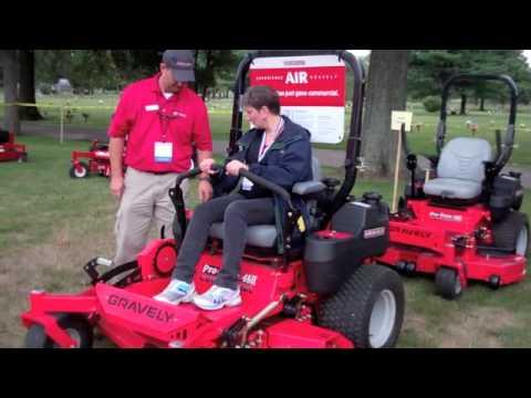 Testing the Gravely Mower