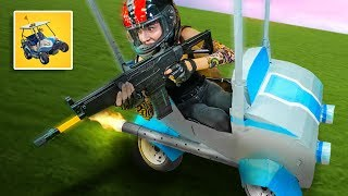 NERF Fortnite ATK Golf Cart In Real Life Challenge!