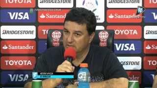 Apuzzo y Montenegro. Huracán 2 - Mineros 2. Copa Libertadores 2015. .