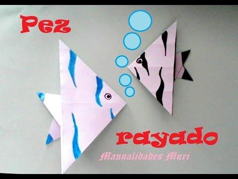 Origami - Papiroflexia. Pez rayado, muy rápido y fácil de hacer
