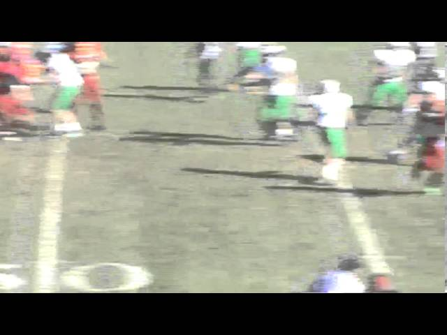 11-2-13 - It's a 48 yard TD pass from Kyle Rosenbrock to Calin Brandt (Brush 34, The Academy 6)