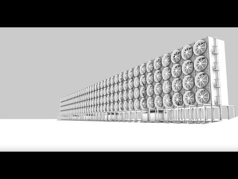 Vídeo Gigantesca parede de ventoinhas converte CO2 em combustível