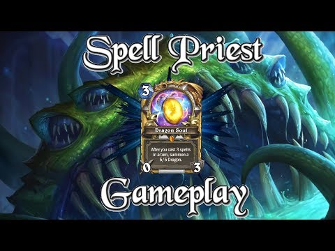 Gameplay: Spell Priest with Dragon Soul Kobolds And Catacombs (Hearthstone Guide How To Play)