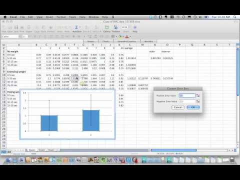 Adding custom error bars in Mac Excel 2008