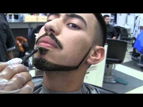 bigen hair color application on haircut and beard step