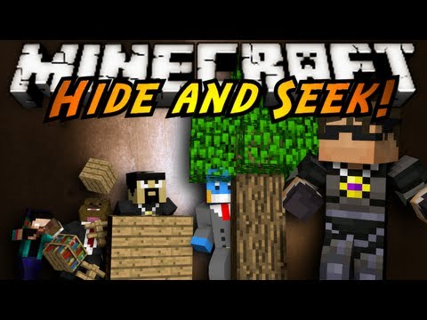 Minecraft Mini-Game : HIDE AND SEEK!, HIDE FROM YOUR ENEMIES AND TURN INTO A RANDOM BLOCK ASSIGNED TO YOU TO BLEND IN WITH YOUR LANDSCAPE OR GET DESTROYED! CAN YOU HIDE FROM THE COMPETITION?! OR ...