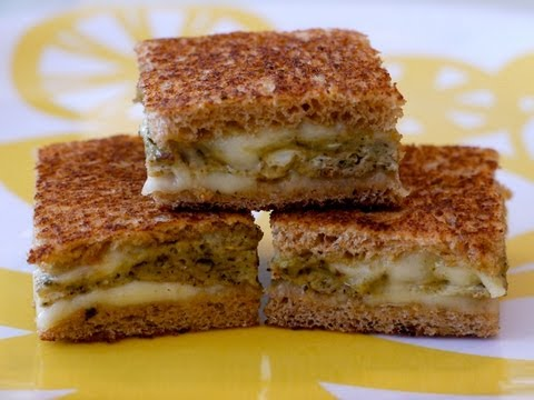 30 Min Recipes for Kids: How to Make an Egg Pesto Sandwich Melt for Children - Weelicious