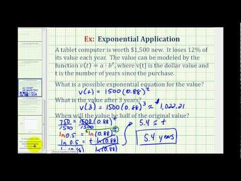 Exponential Function Application with Logarithms