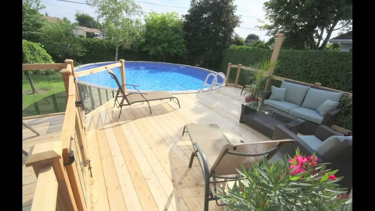 Patio avec piscine larose par patios et cl tures beaulieu for Cloture amovible piscine quebec