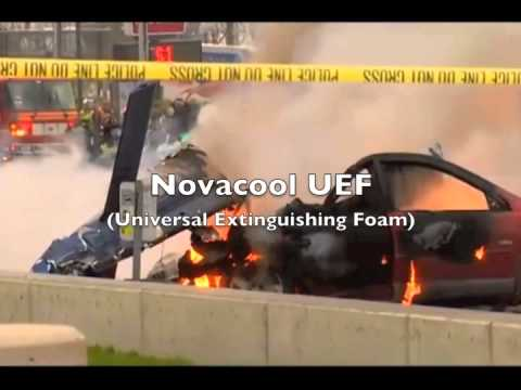 Seattle Helicopter Crash extinguished with Novacool UEF