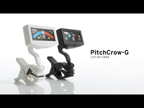 Korg PitchCrow-G Clip On Chromatic Guitar / Bass Tuner (Black)